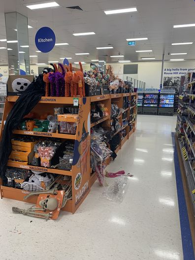 Halloween merchandise in Big W Rouse Hill