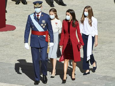 Spanish royals attend pared-back National Day celebrations, October 2020