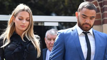 The footballer is also subject of an Apprehended Violence Order preventing him assaulting of harassing Ms Ivkovic, who was former Miss Australia finalist.