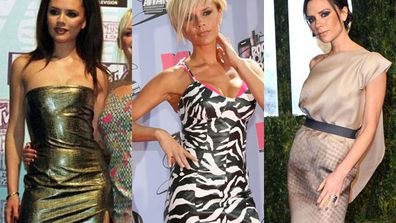 <br/><br/><br/>Today our fave style chameleon and couture designer Victoria Beckham turns 40... so we've decided to dig up some old snaps of the Spice Girl to see how far she's come in the fash-department. <br/><br/>From sequins as a Spice Girl to high-fash frocks as a designer, check out VB's wardrobe transformation over time... <br/><br/>