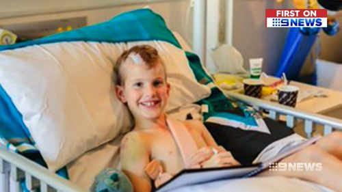 Kade suffered bleeding on the brain, a fractured skull and shoulder and lacerated spleen.