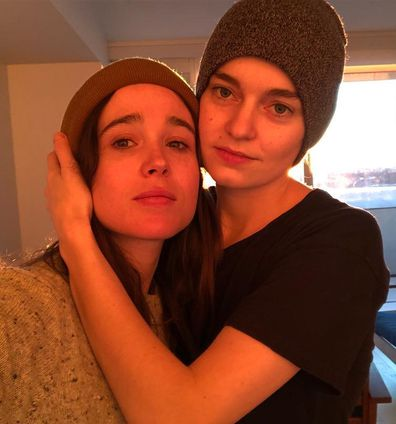 Ellen Page and Emma Portner selfie