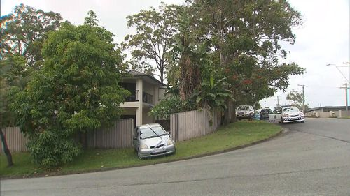 A crime scene remains in place (9NEWS)