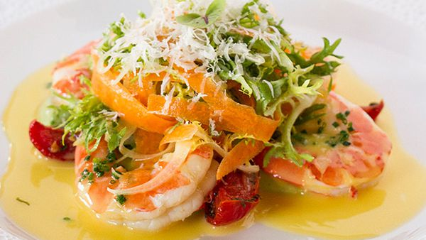Neil Martin's warm king prawn salad
