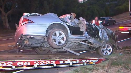 The 18-year-old was allegedly behind the wheel when a silver car crashed into a creek bed.