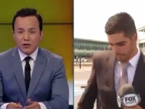 Sports reporter knocked over by car during live cross