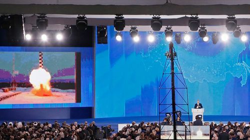 Vladimir Putin has announced Russia has tested an array of new strategic nuclear weapons that can't be intercepted. (AAP)