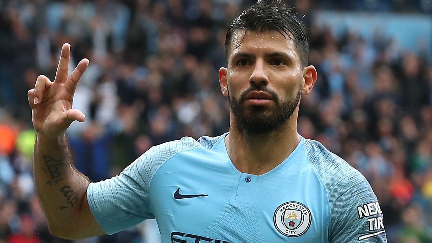 Sergio Aguero hat-trick steers Manchester City to thumping win while Manchester United slump