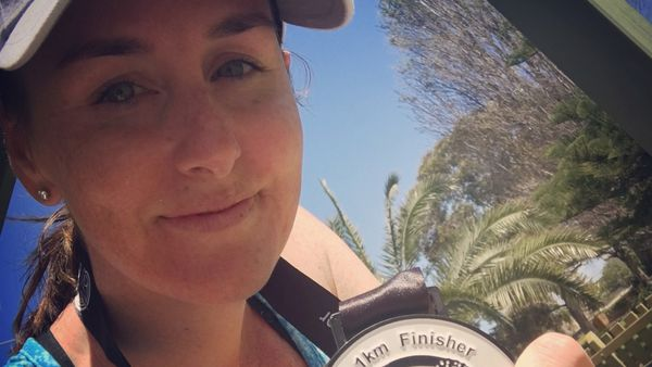 """Medal mum: """"There were those days when I didn't want to go."""" Image: supplied"""