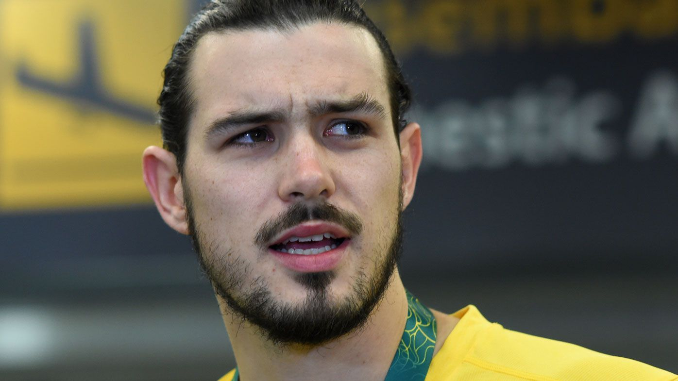 Chris Goulding was at the centre of the brawl between the Boomers and Philippines.