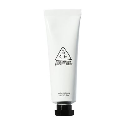 """10. Moisturise<br> <a href=""""http://www.sephora.com.au/products/3ce-back-to-baby-daily-moisture/v/default"""" target=""""_blank"""" draggable=""""false"""">3CE Back To Baby Daily Moisture, $28.</a>"""