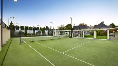 Similarly, it is not yet known if the tennis court at the rear of the property has been sacrificed to make way for the new structure replacing the old one. (Supplied, Kay and Burton Real Estate)