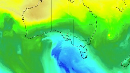 A low pressure system moving north from the Southern Ocean will send temperatures plummeting in the coming days. (Weatherzone)