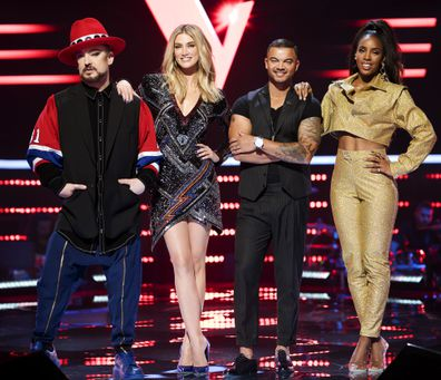 Guy Sebastian, Delta Goodrem, Boy George and Kelly Rowland
