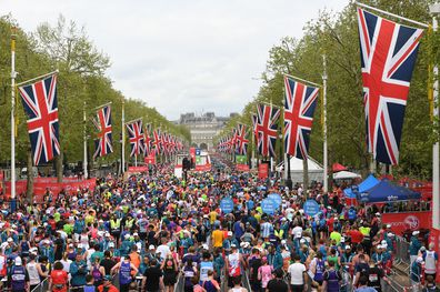 Over 40,000 runners participated in the London Marathon this year with many dressing up and raising money for charity.