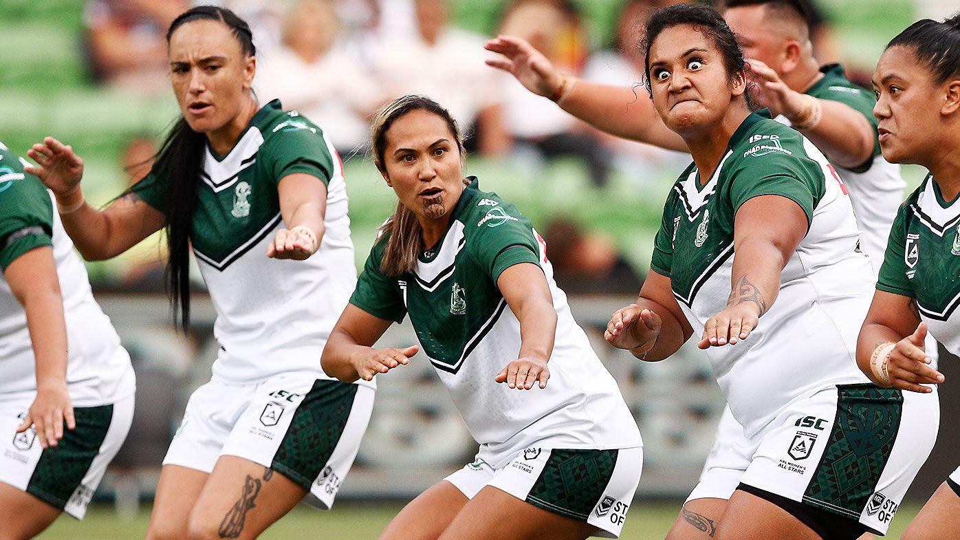 Maori Ferns perform hair-raising haka prior to Women's All-Stars clash