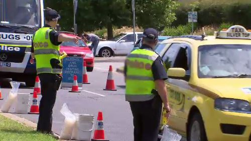 Victoria Police out in force over the holiday period, drug and alcohol testing drivers. (A Current Affair)