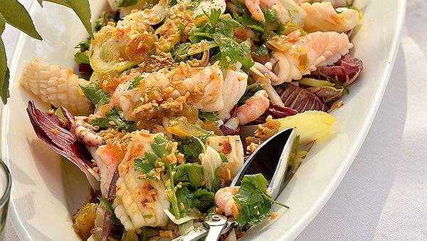 Hawkesbury squid salad