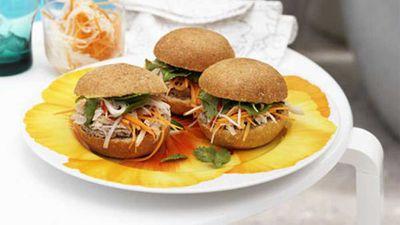 """Recipe:<a href=""""http://kitchen.nine.com.au/2016/05/17/13/32/vietnamese-chicken-rolls"""" target=""""_top"""">Vietnamese chicken rolls</a>"""