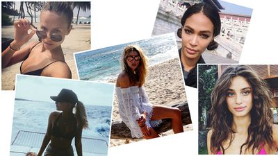 If Instagram is anything to go by (and it usually is), the holiday season isn't even close to over for our favourite models. But instead of resenting the entire population of St Barths now you're back doing nine-to-five, why not use the social media blast to your advantage by stealing a few model-inspired vacay hairstyles you can rock to the office? Not only are they simple and snooze button-friendly, but they'll allow you to hold onto summer that little bit longer.