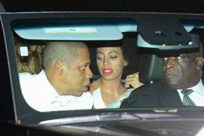 It's the worst thing that could happen on your wedding day (besides being left at the altar, of course)... and it happened to Solange Knowles.<br><br>Beyonce's sister broke out in hives while catching a ride with Queen Bey and Jay Z after her wedding reception in New Orleans. The last time we saw these guys together was that elevator fight back in May... but this time Queen Bey didn't stand back and do nothing, shielding Solange with a white cloth. What a sis!<br><br>Sources told TMZ that the 28-year-old bride suffered an unspecified food allergy. The hives were gone in just a few minutes… but not fast enough for the paps to snap poor Solange amid the drama.<br><br>Images: Snapper