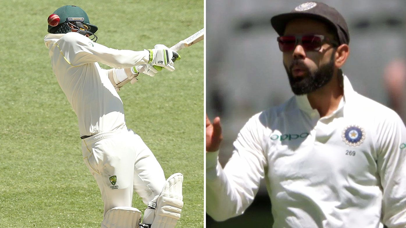 'That's a nasty blow!': Nathan Lyon struck on helmet by red-hot Mohammed Shami ball