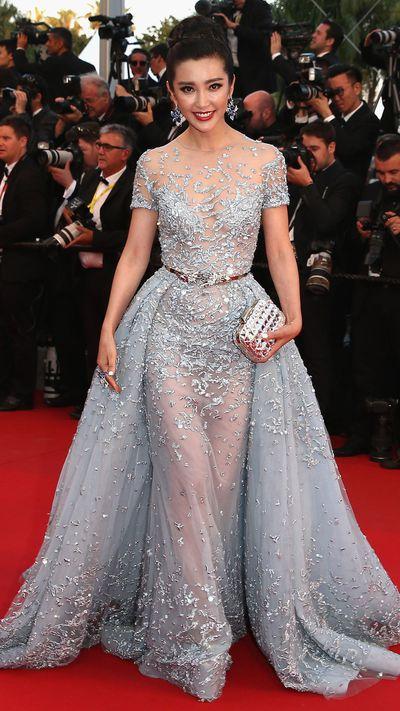 <p>Li Bing Bing in Zuhair Murad Couture</p>