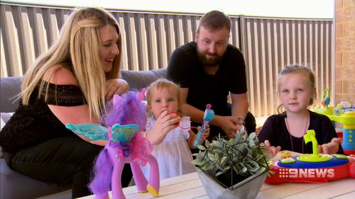 Perth parents Catherine and Greg Hughes have become vaccination campaigners since losing their newborn son to whooping cough in 2015. (9NEWS)