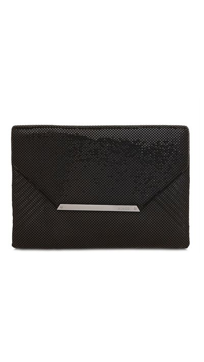 "<p>Leave the bulky tote under your desk and opt for a glittering clutch instead.</p><a href=""http://www.mimco.com.au/shop/bags/60169766-1/Oversized-Origami-Envelope.html"" target=""_blank"">Clutch, $299, Mimco</a>"