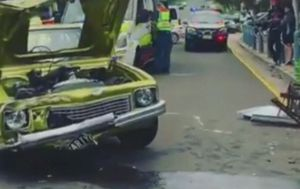 Driver taking students to formal charged after allegedly crashing car while doing burnout