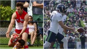 Aussie athlete Michael Dickson  turned AFL disappointment into a successful career with American football team Seattle Seahawks.