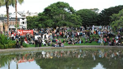 When the march reached Victoria Park it became a large picnic (Nicholas McCallum)