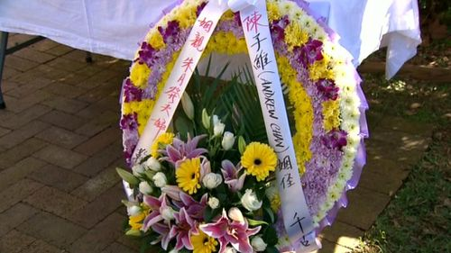 A floral tribute to Andrew Chan. (9NEWS)