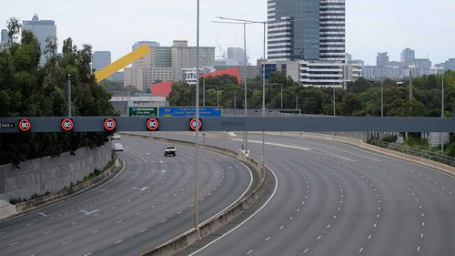 Empty roads in Melbourne as the lockdown begins.