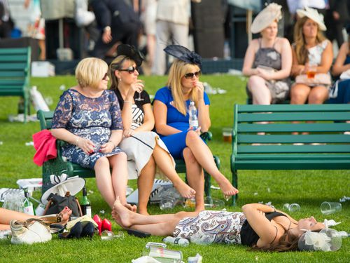 Despite the elegance of the day, the Royal Ascot is not immune to the kind of scenes more familiar from Australia's own big race days. (AAP)