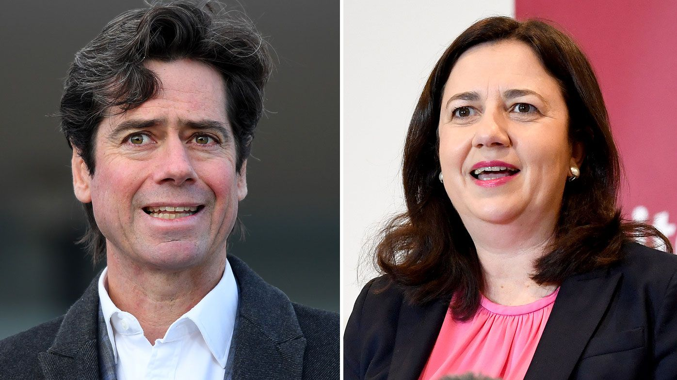 AFL CEO Gillon McLachlan has been given a generous offer by the Queensland Premier