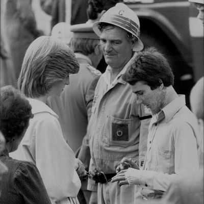 Princess Diana meets with Australian bushfire victims