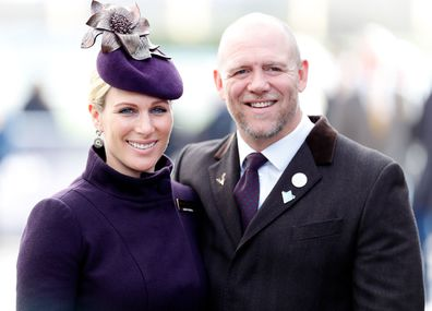 Zara Tindall and Mike Tindall attend day 4 'Gold Cup Day' of the Cheltenham Festival 2020 at Cheltenham Racecourse on March 13, 2020 in Cheltenham, England.