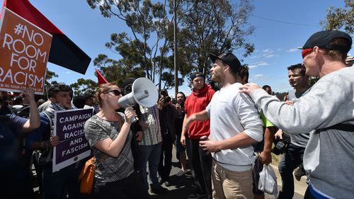 Anti-racism groups in a war of words with Reclaim Australia protesters. (AAP)
