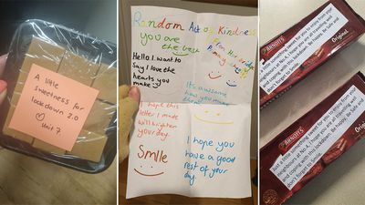 Kind letters received during lockdown