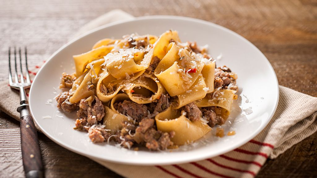 Pork and porcini pappardelle recipe by San Remo
