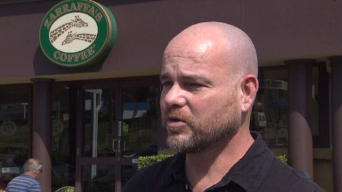 Zarraffas coffee chain founder Kenton Campbell said his staff had been robbed by a man with a hammer.