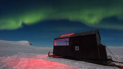 Try a hotel on skis for epic Northern Lights views