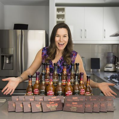 "Renae Bunster's ""S*** the bed"" hot sauce goes public."