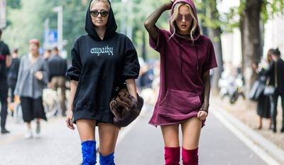 Shea Marie and Caroline Vreeland in Milan