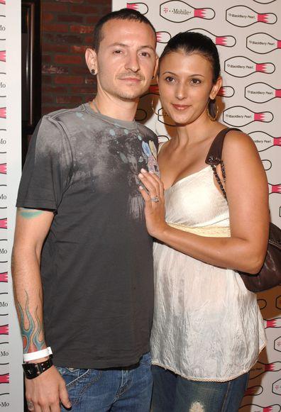 Chester Bennington of Linkin Park and wife Talinda Bennington.