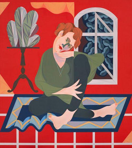 Carins' portrait of artist Agatha Gothe-Snape. (AAP)