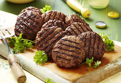 Barbecue beef rissoles