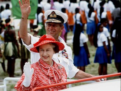 The Queen And Prince Philip On Tour In Kiribati, South Pacific