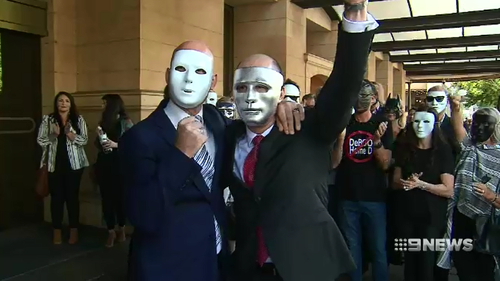 The brothers and their supporters were elated outside court today after learning their attacker would be jailed.